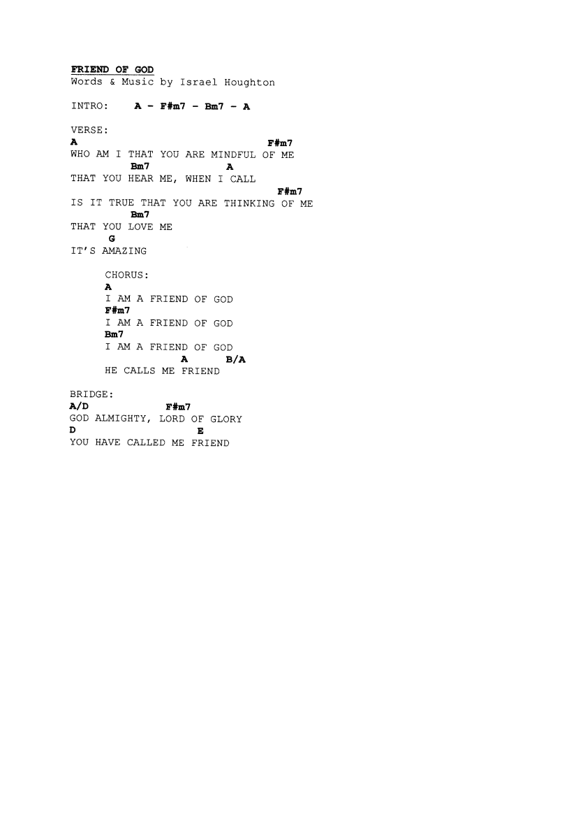 Praise worship chords page 9 the idiot in me friend of god hexwebz Gallery