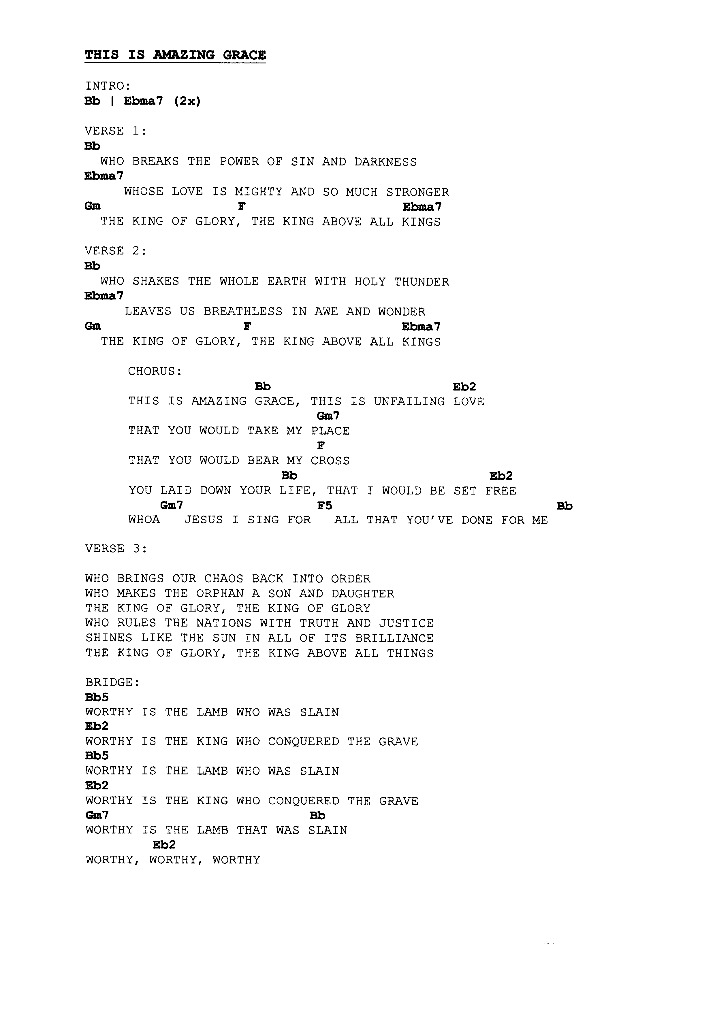The idiot in me page 7 this is all about john you know if download this is amazing grace chords hexwebz Images
