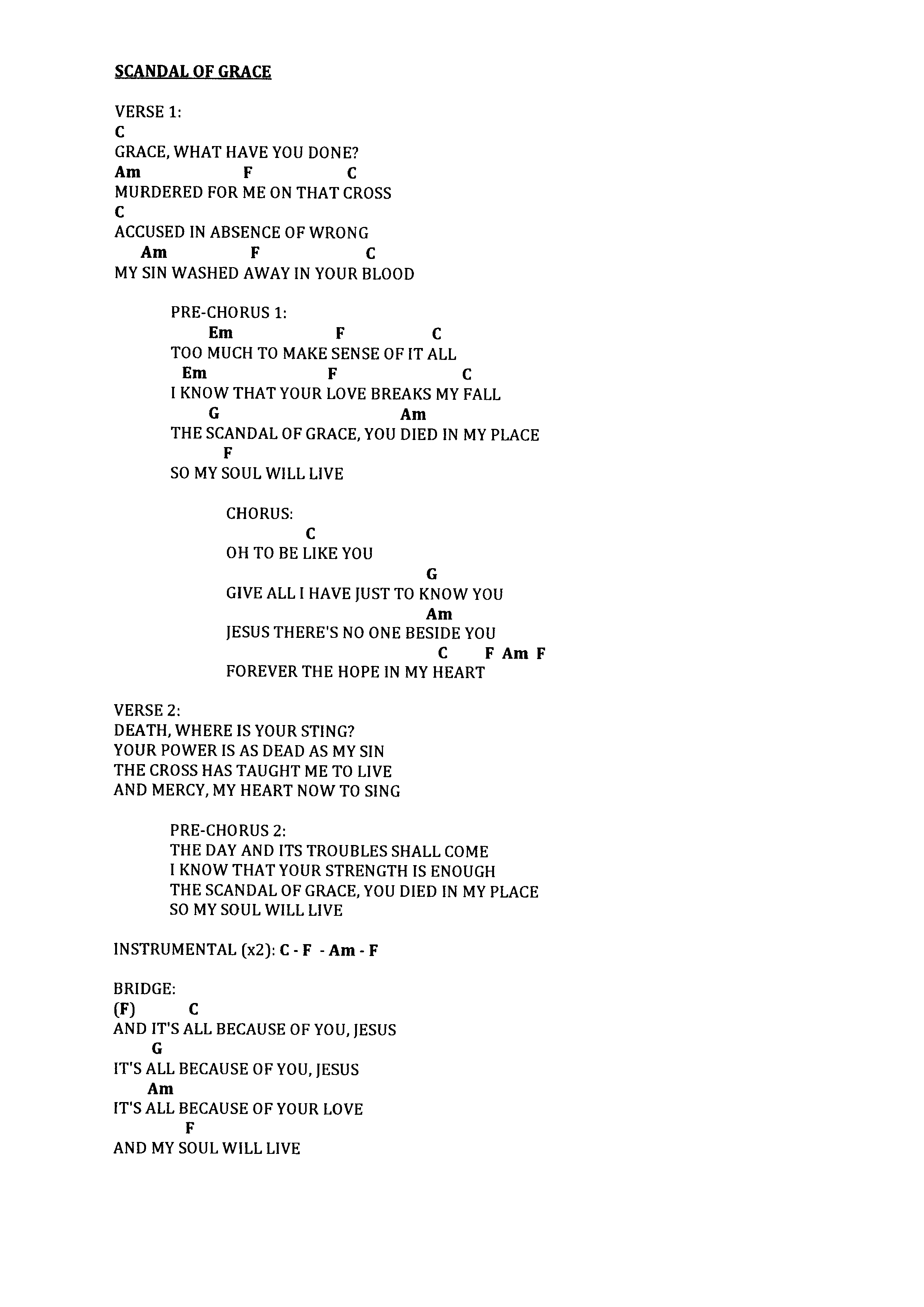 Praise worship chords page 3 the idiot in me scandal of grace c hexwebz Choice Image
